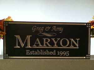 Personalized name and date plaque